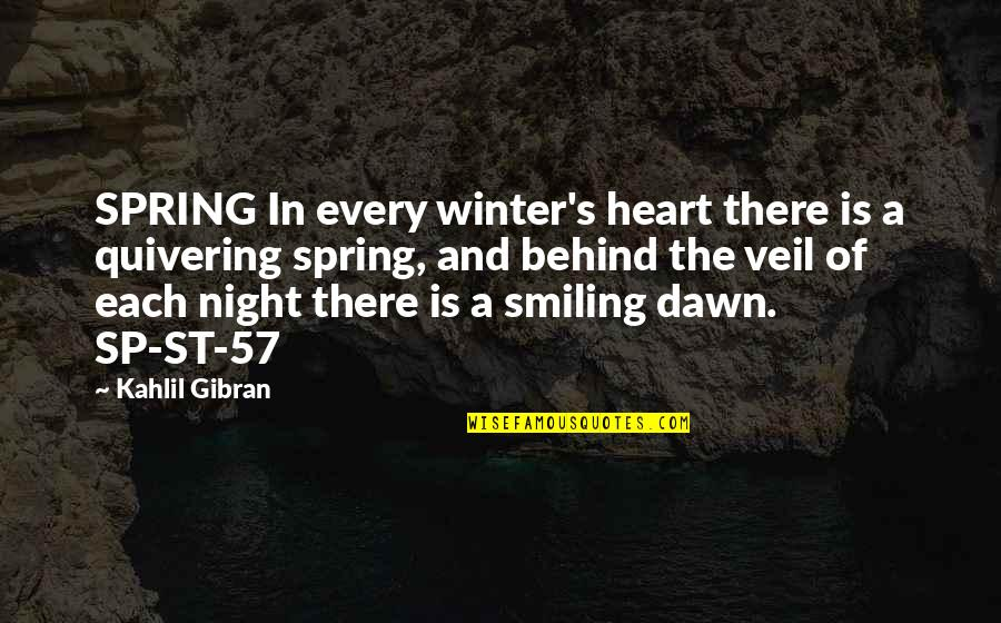 Spring'st Quotes By Kahlil Gibran: SPRING In every winter's heart there is a