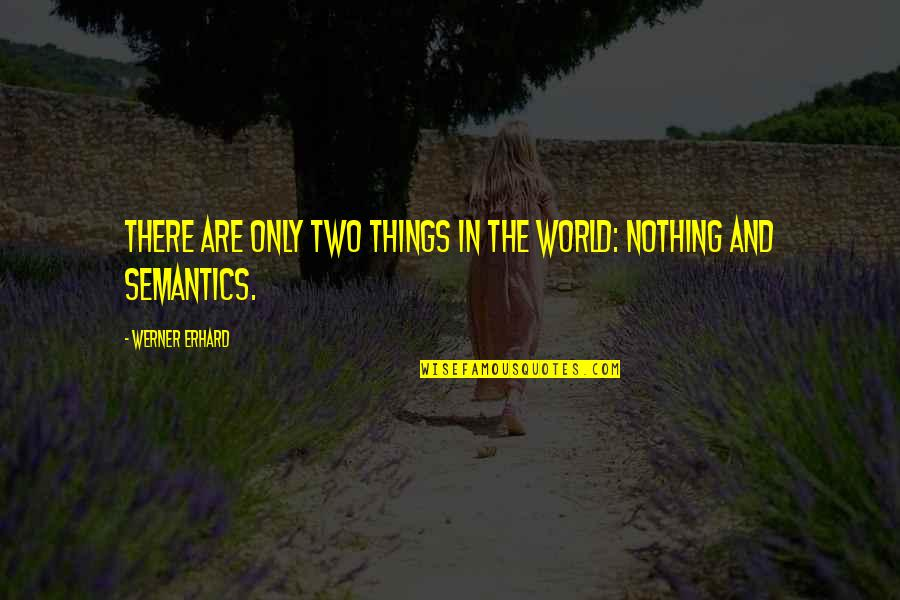 Sql 2008 Double Quotes By Werner Erhard: There are only two things in the world: