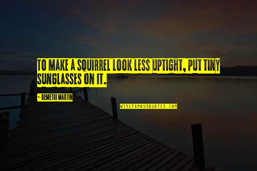 Squirrel Quotes By Demetri Martin: To make a squirrel look less uptight, put