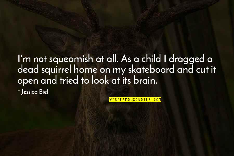 Squirrel Quotes By Jessica Biel: I'm not squeamish at all. As a child