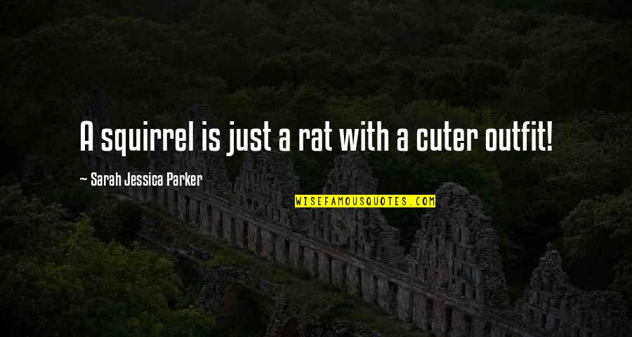 Squirrel Quotes By Sarah Jessica Parker: A squirrel is just a rat with a