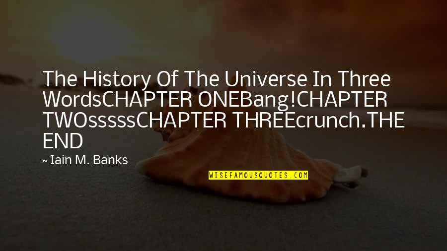 Sssss Quotes By Iain M. Banks: The History Of The Universe In Three WordsCHAPTER