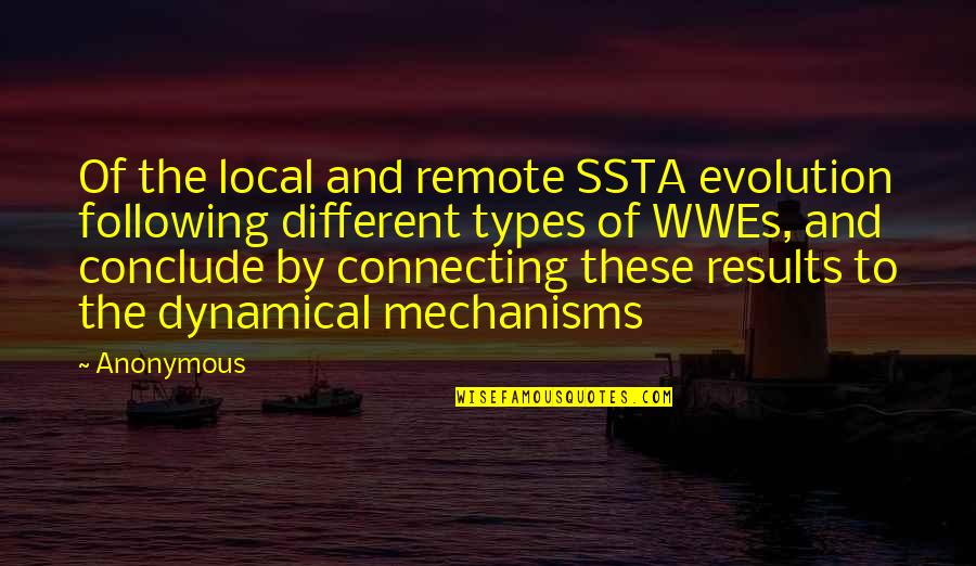 Ssta Quotes By Anonymous: Of the local and remote SSTA evolution following