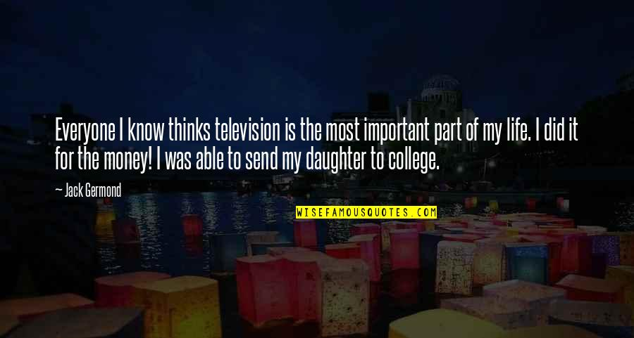 St Charles Borromeo Quotes By Jack Germond: Everyone I know thinks television is the most