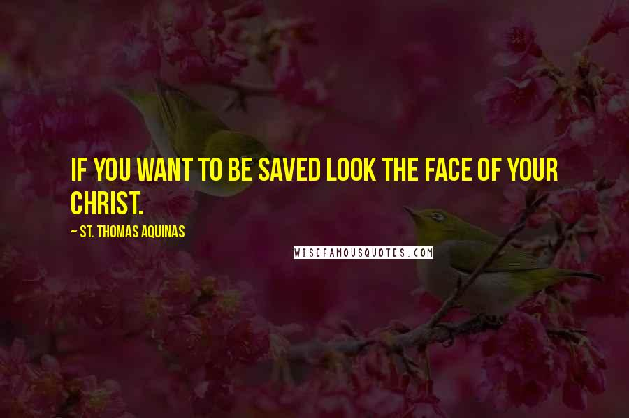 St. Thomas Aquinas quotes: If you want to be saved look the face of your Christ.