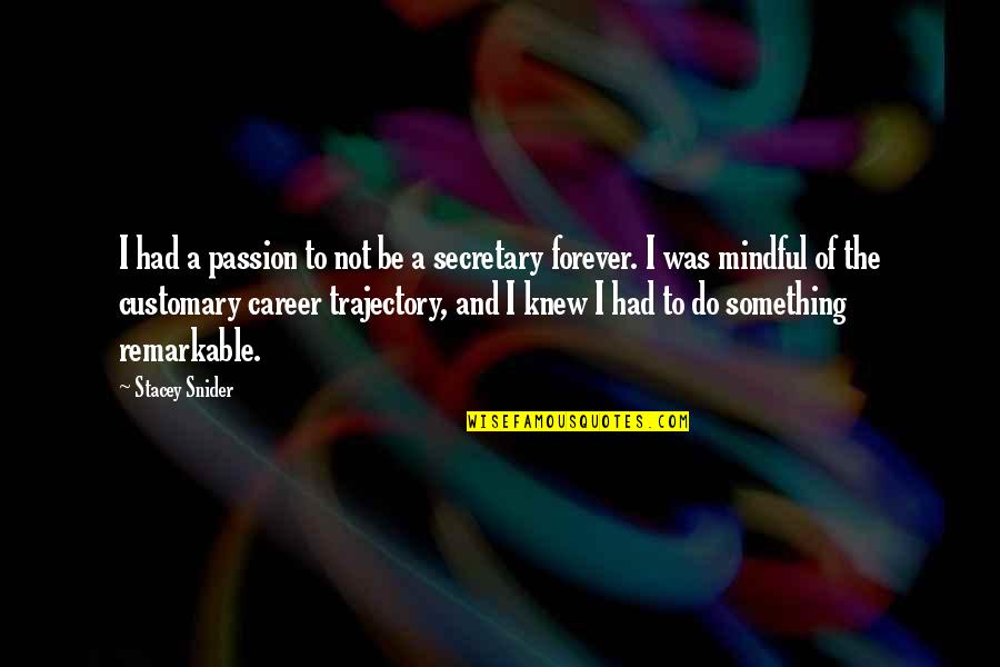 Stacey Snider Quotes By Stacey Snider: I had a passion to not be a