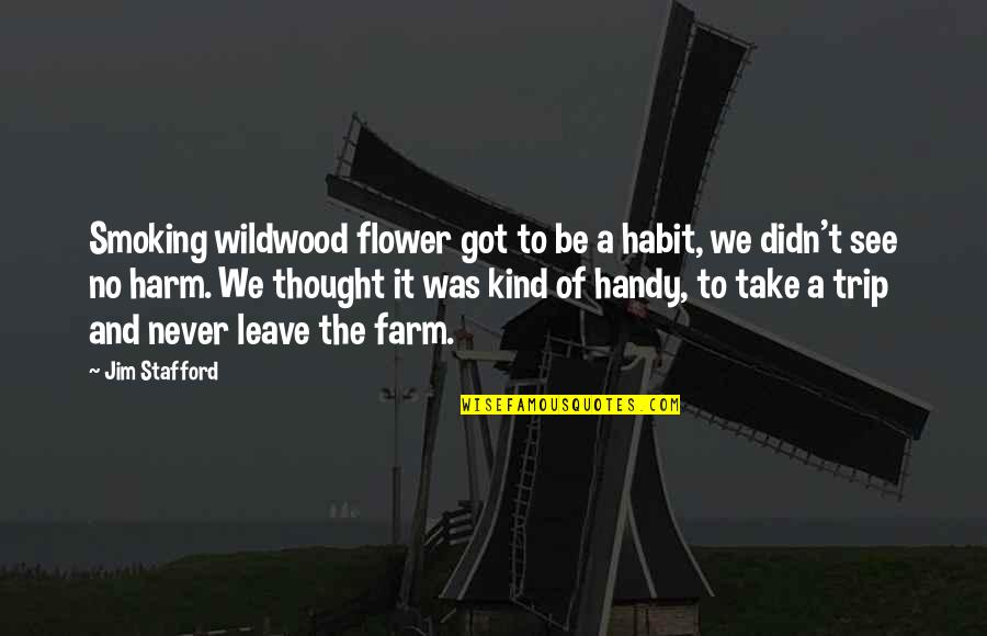 Stafford's Quotes By Jim Stafford: Smoking wildwood flower got to be a habit,