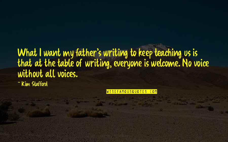 Stafford's Quotes By Kim Stafford: What I want my father's writing to keep