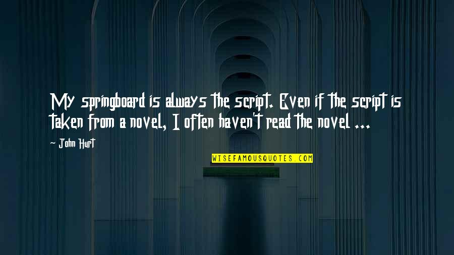 Stampin Up Sweet Quotes By John Hurt: My springboard is always the script. Even if