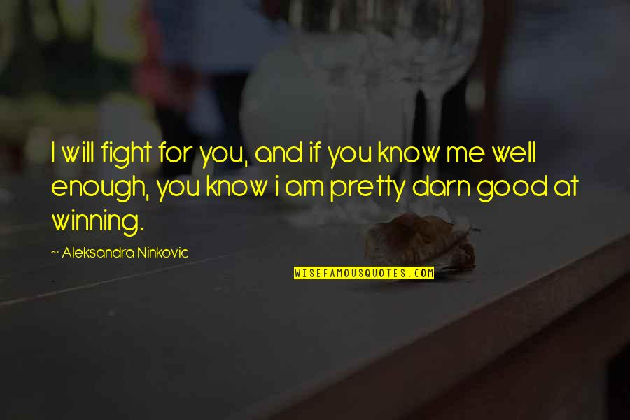 Stand By You Rachel Platten Quotes By Aleksandra Ninkovic: I will fight for you, and if you