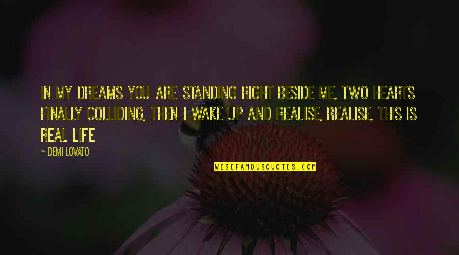 Standing Beside You Quotes By Demi Lovato: In my dreams you are standing right beside