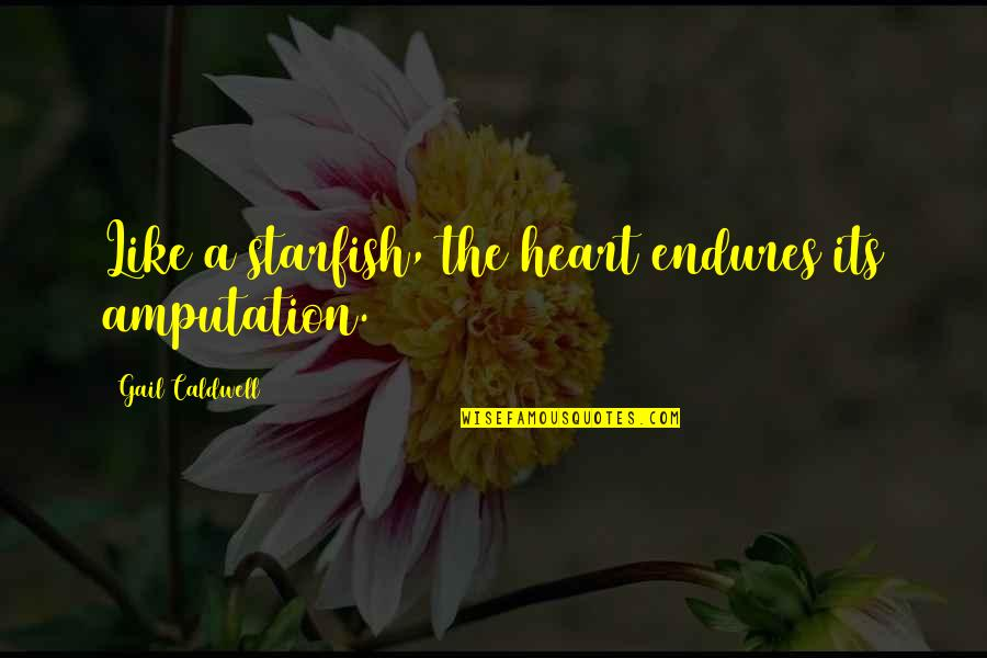 Starfish Quotes By Gail Caldwell: Like a starfish, the heart endures its amputation.