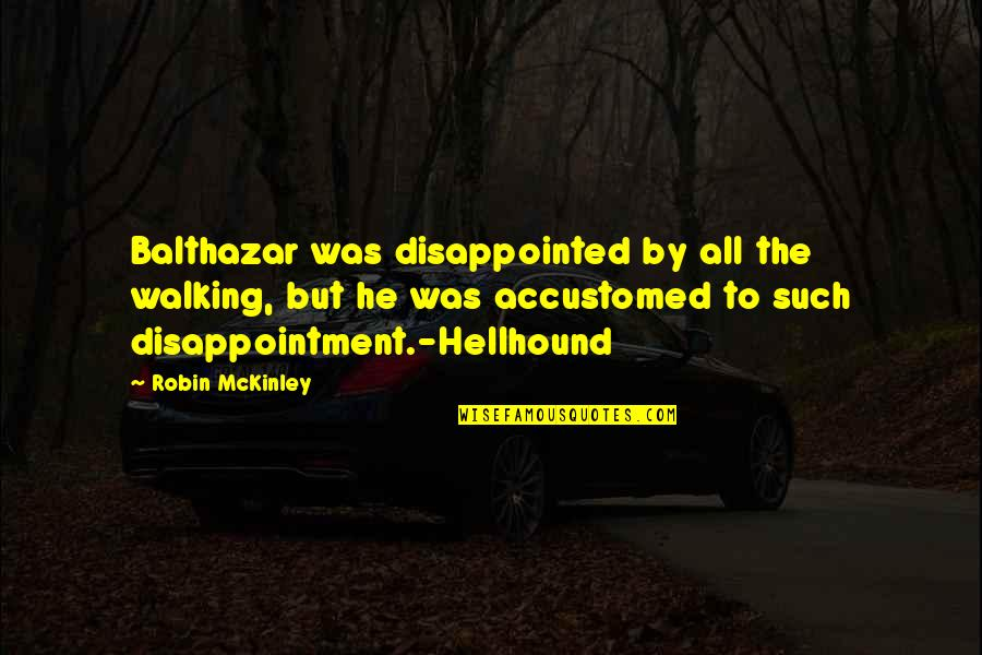 Starling Birds Quotes By Robin McKinley: Balthazar was disappointed by all the walking, but