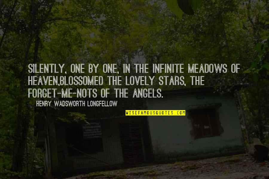 Stars And Heaven Quotes By Henry Wadsworth Longfellow: Silently, one by one, in the infinite meadows