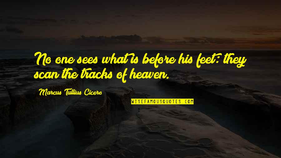 Stars And Heaven Quotes By Marcus Tullius Cicero: No one sees what is before his feet:
