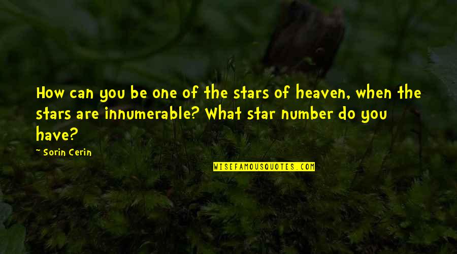 Stars And Heaven Quotes By Sorin Cerin: How can you be one of the stars