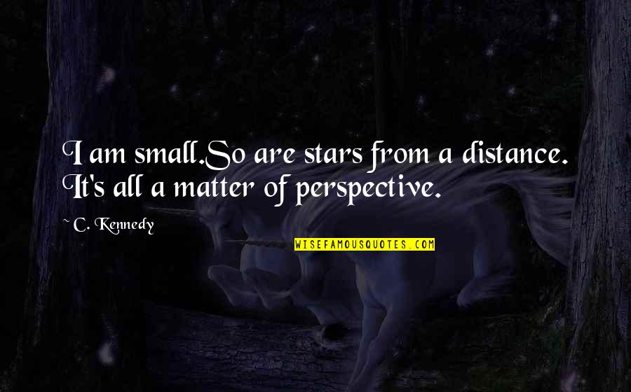 Stars And Hope Quotes By C. Kennedy: I am small.So are stars from a distance.