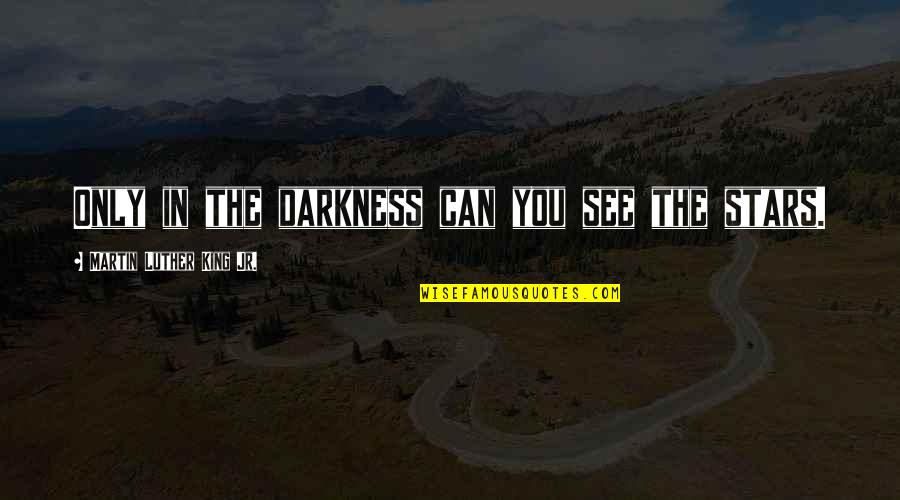 Stars And Hope Quotes By Martin Luther King Jr.: Only in the darkness can you see the