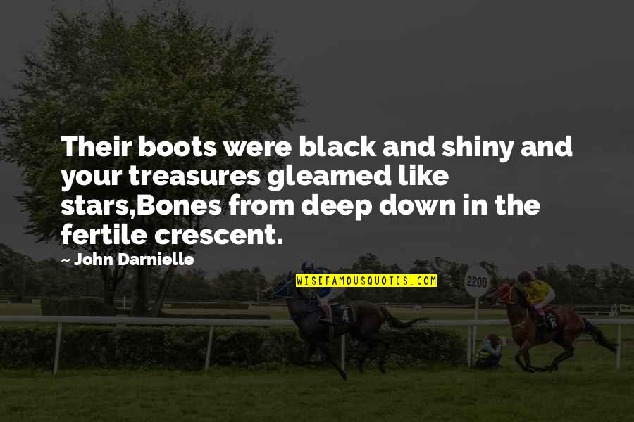 Stars And Loss Quotes By John Darnielle: Their boots were black and shiny and your