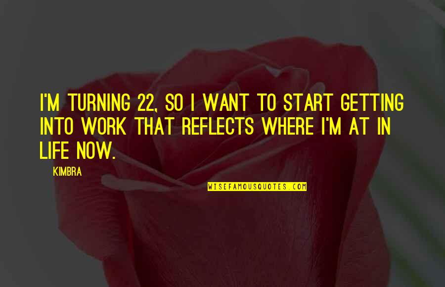 Start Life Now Quotes By Kimbra: I'm turning 22, so I want to start
