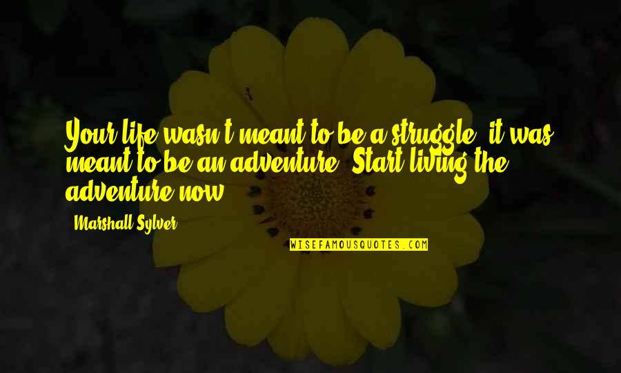 Start Life Now Quotes By Marshall Sylver: Your life wasn't meant to be a struggle;