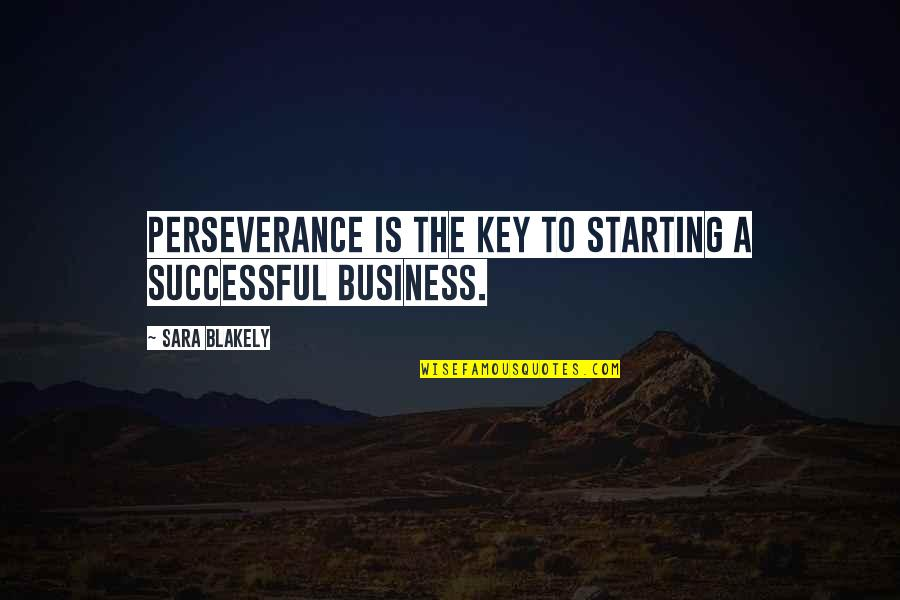 Starting A Successful Business Quotes By Sara Blakely: Perseverance is the key to starting a successful