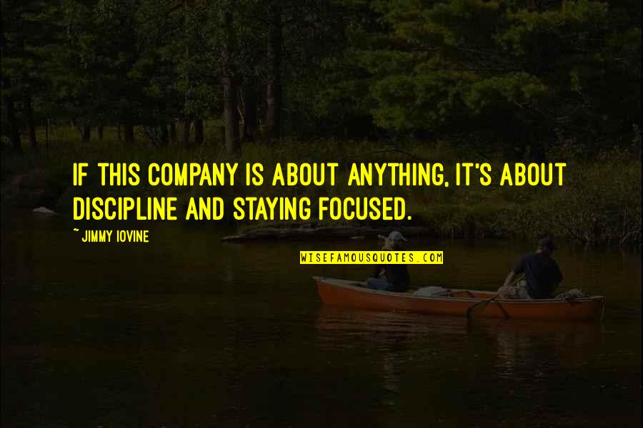 Stay Focused Quotes By Jimmy Iovine: If this company is about anything, it's about