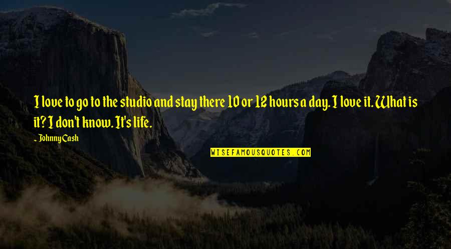 Stay Out Of My Love Life Quotes By Johnny Cash: I love to go to the studio and