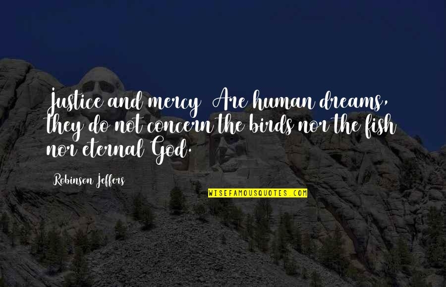 Stay Real Stay Loyal Quotes By Robinson Jeffers: Justice and mercy/ Are human dreams, they do