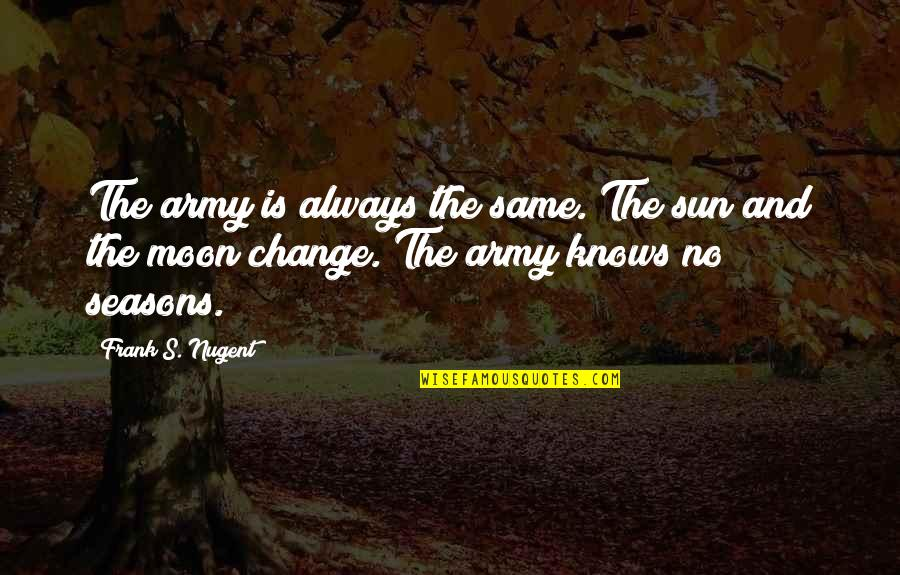 Stayin Quotes By Frank S. Nugent: The army is always the same. The sun