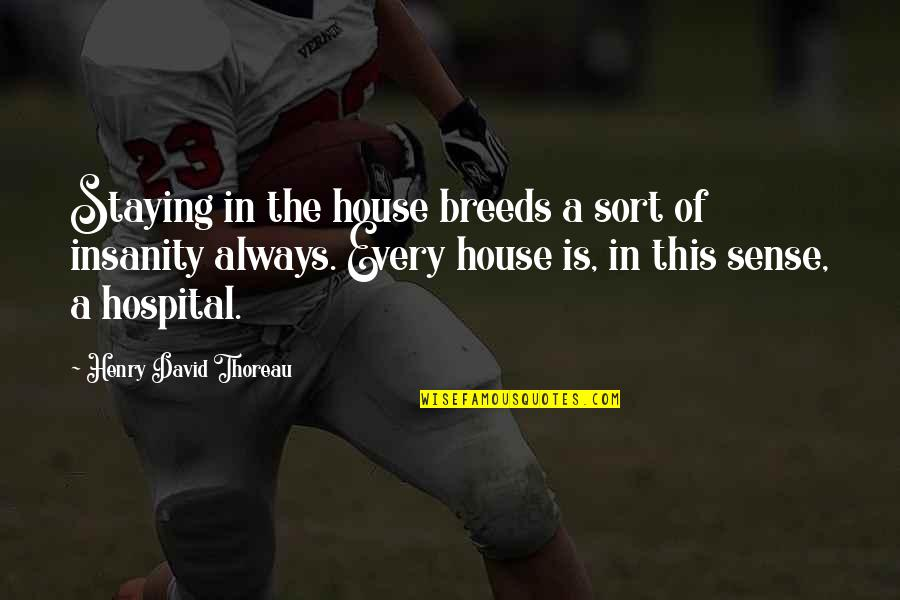 Staying In Quotes By Henry David Thoreau: Staying in the house breeds a sort of