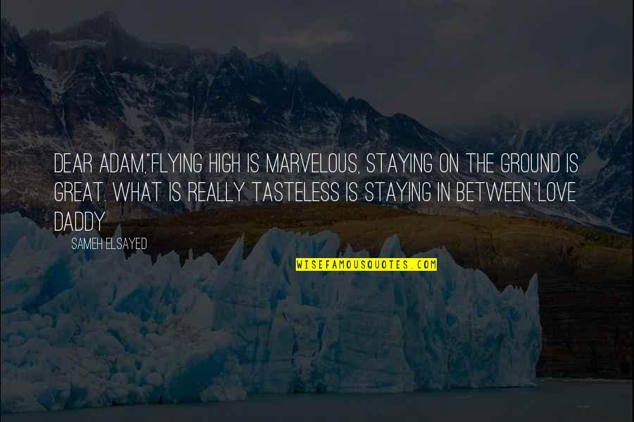"""Staying In Quotes By Sameh Elsayed: Dear Adam,""""Flying high is marvelous, staying on the"""