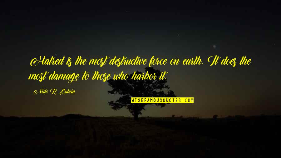 Stealing From Friends Quotes By Nido R. Qubein: Hatred is the most destructive force on earth.
