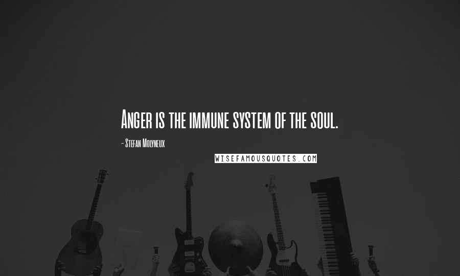 Stefan Molyneux quotes: Anger is the immune system of the soul.