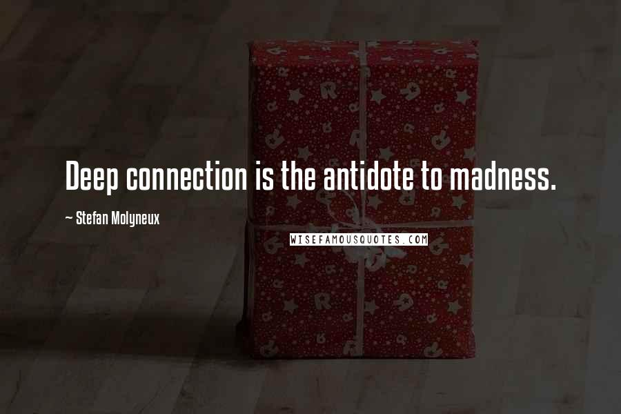 Stefan Molyneux quotes: Deep connection is the antidote to madness.