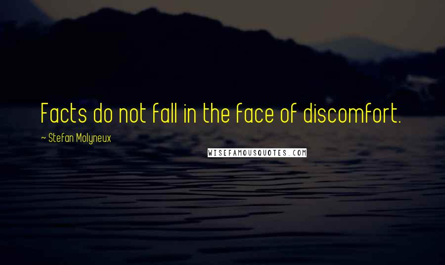 Stefan Molyneux quotes: Facts do not fall in the face of discomfort.