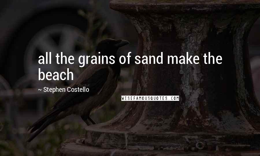 Stephen Costello quotes: all the grains of sand make the beach