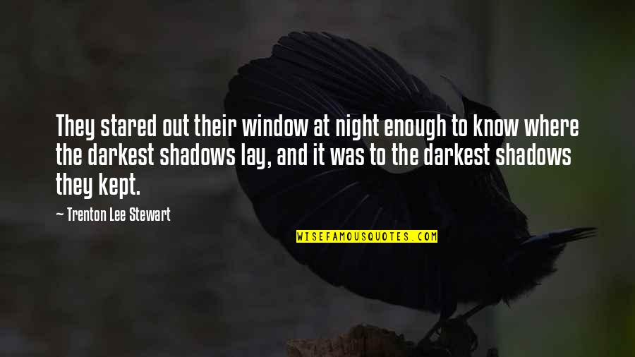 Stepson Birthday Quotes By Trenton Lee Stewart: They stared out their window at night enough