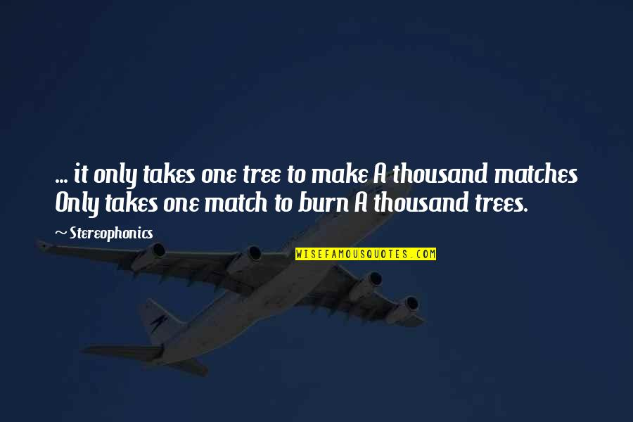 Stereophonics Quotes By Stereophonics: ... it only takes one tree to make