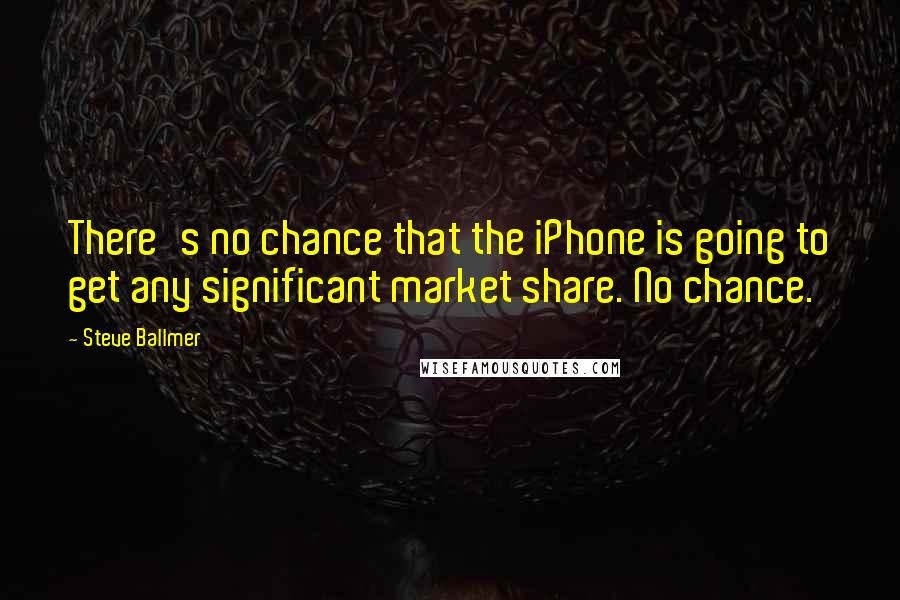 Steve Ballmer quotes: There's no chance that the iPhone is going to get any significant market share. No chance.