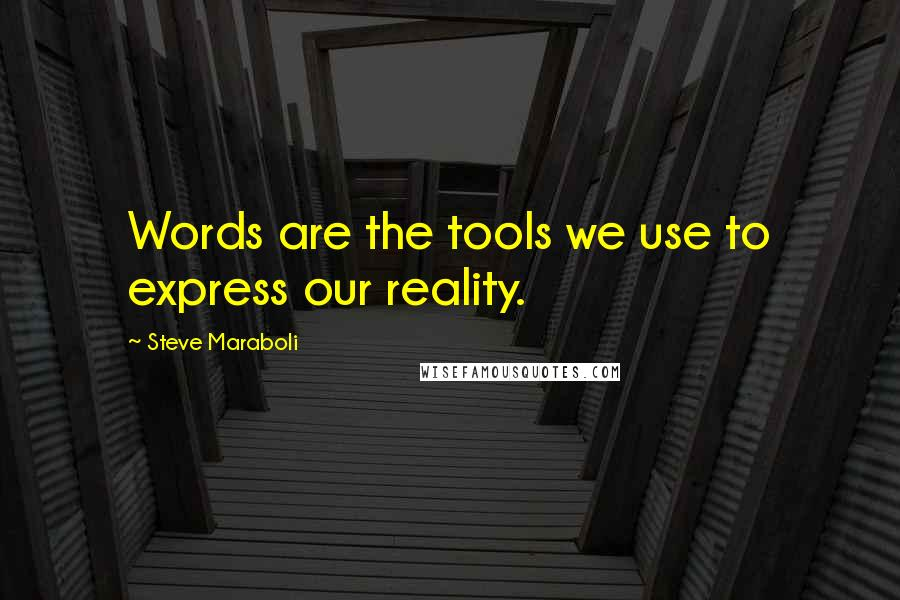 Steve Maraboli quotes: Words are the tools we use to express our reality.