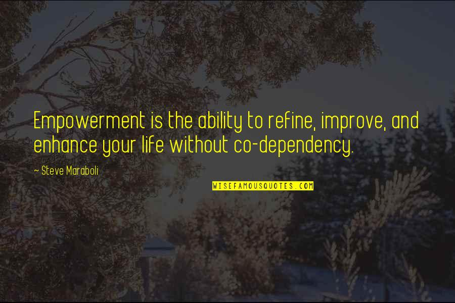 Steve Maraboli Quotes By Steve Maraboli: Empowerment is the ability to refine, improve, and