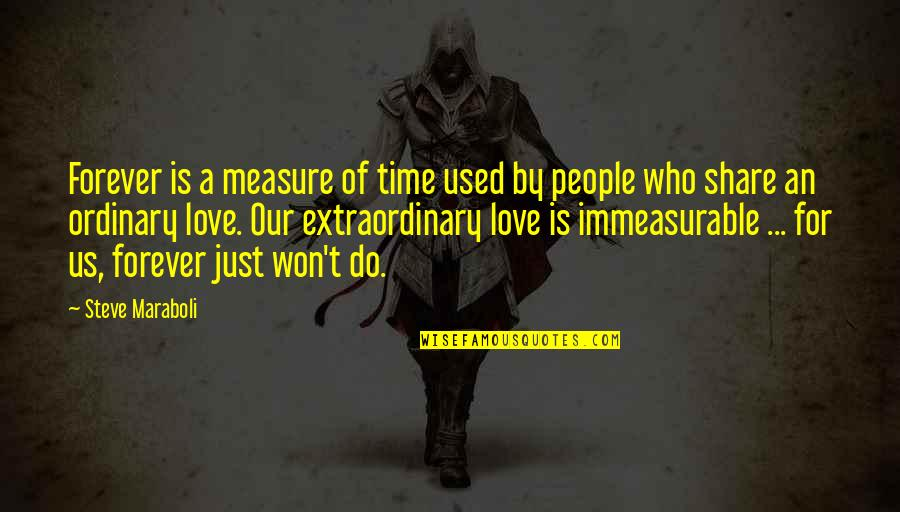 Steve Maraboli Quotes By Steve Maraboli: Forever is a measure of time used by