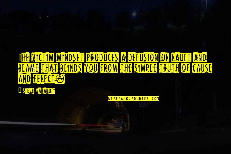 Steve Maraboli Quotes By Steve Maraboli: The victim mindset produces a delusion of fault