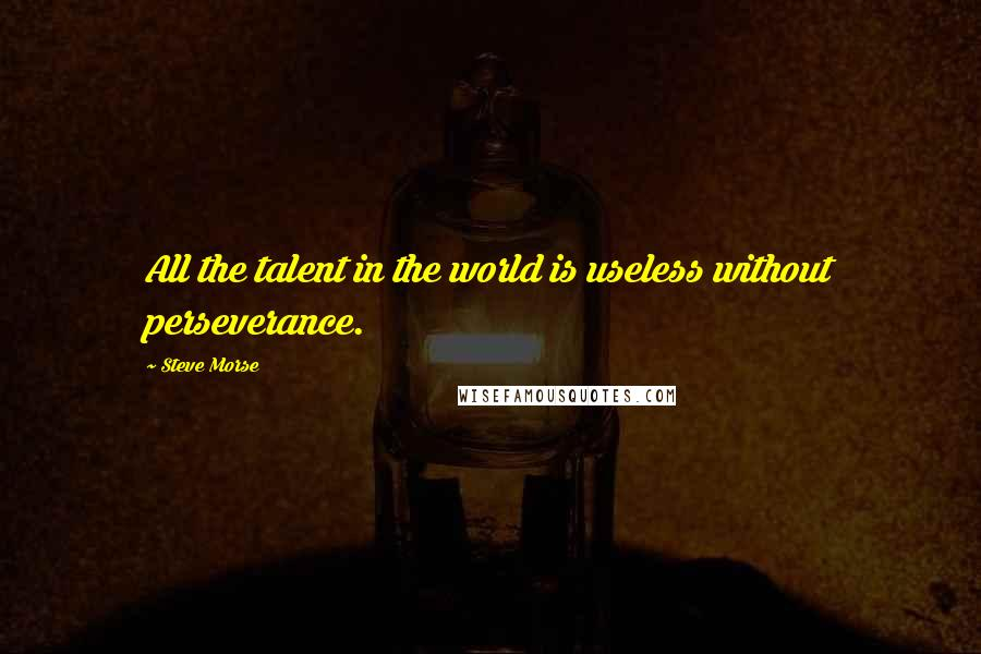 Steve Morse quotes: All the talent in the world is useless without perseverance.