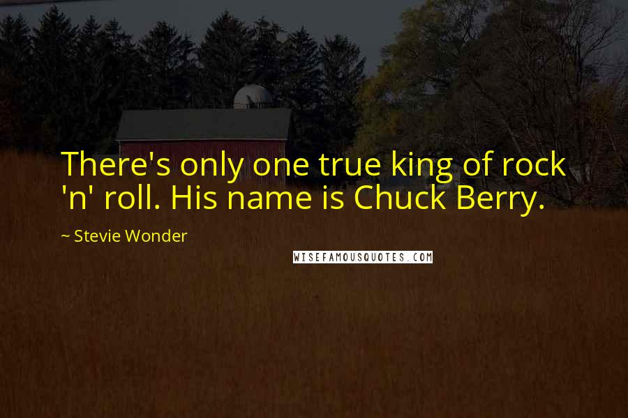Stevie Wonder quotes: There's only one true king of rock 'n' roll. His name is Chuck Berry.