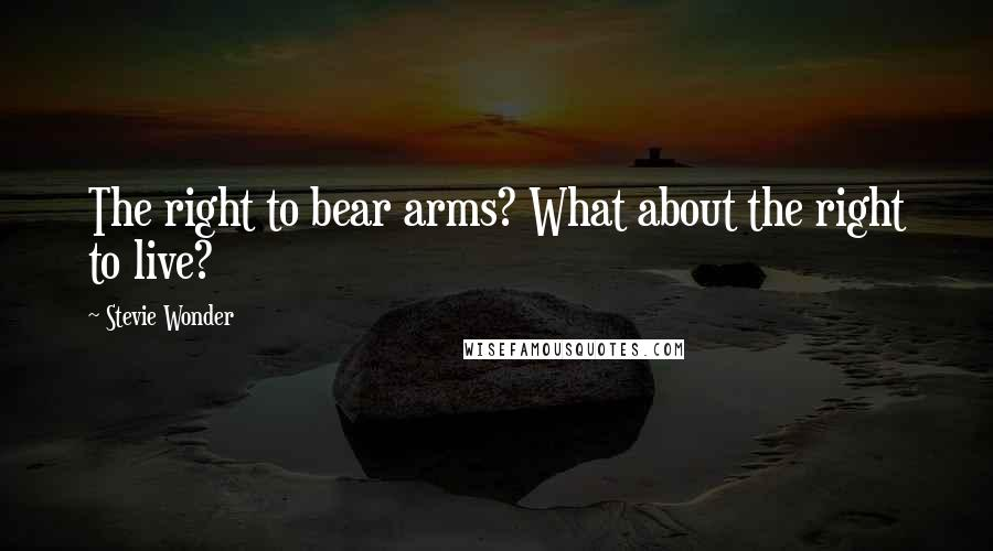 Stevie Wonder quotes: The right to bear arms? What about the right to live?