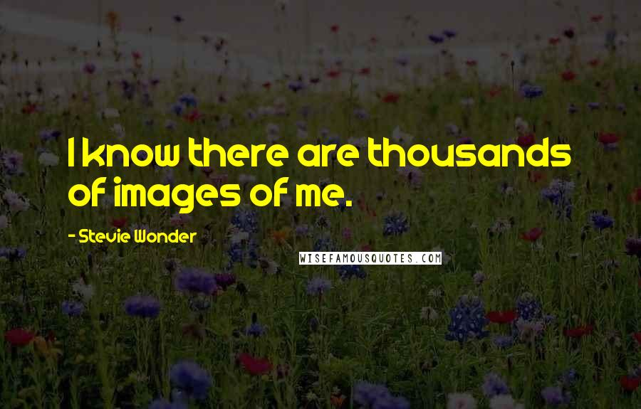 Stevie Wonder quotes: I know there are thousands of images of me.
