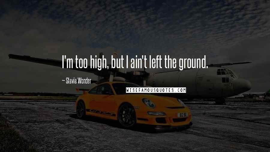 Stevie Wonder quotes: I'm too high, but I ain't left the ground.