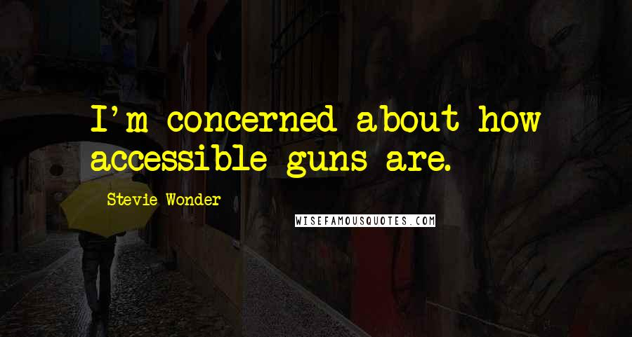 Stevie Wonder quotes: I'm concerned about how accessible guns are.